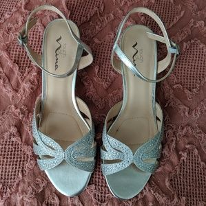 NEW Silver Wedges - prom, wedding